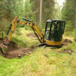 Small excavators are used for restorations © Iva Bufková