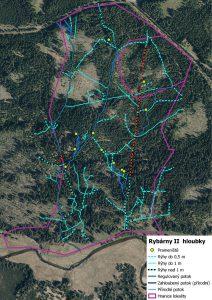 Mapový podklad pro projektovou dokumentaci lokality mezi Tříjezerní slatí a Roklanským potokem