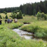 Dobrovolníci při exkurzi kolem jedné z nejkrásnějších českých řek - Křemelné