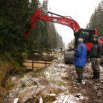 Bau von Holzdämmen © Iva Bufková