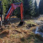 Nové Údolí - i na této lokalitě jsme narovnaný potok rozvlnili osvědčenou metodou.