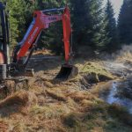 Nové Údolí project site - a special method of restoration was used to churn up the straight stream.